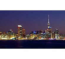 Auckland Skyline at Dusk Photographic Print