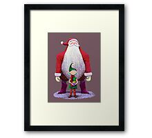 Santa & elf Framed Print