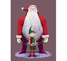 Santa & elf Photographic Print