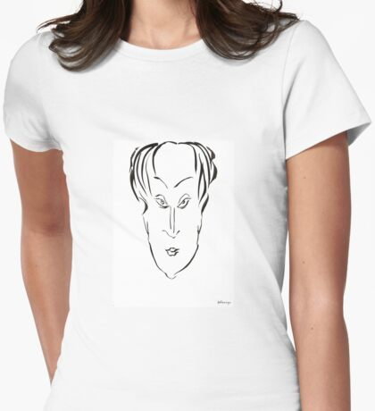 Abstract sketch of face X Womens Fitted T-Shirt