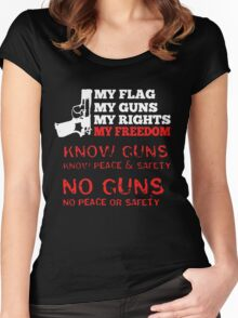 My Flag My Guns My Rights My Freedom Women's Fitted Scoop T-Shirt