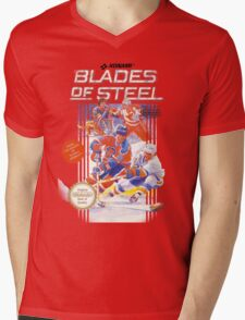 Blades of Steel Mens V-Neck T-Shirt