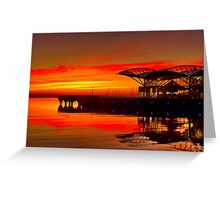 """Sunrise At The Carousel"" Greeting Card"