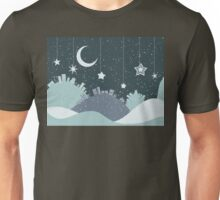 Night Winter City Unisex T-Shirt