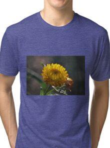 Unfolding paper daisy. Tri-blend T-Shirt
