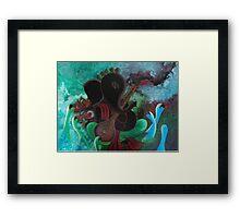 Swan Ganesha Framed Print