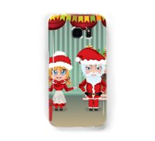 Santa and Mrs Claus in the House Samsung Galaxy Case/Skin