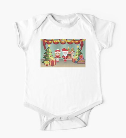 Santa and Mrs Claus in the House One Piece - Short Sleeve