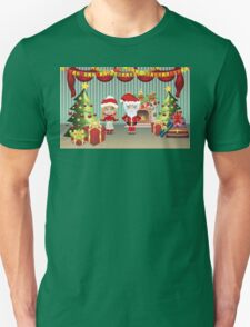Santa and Mrs Claus in the House Unisex T-Shirt