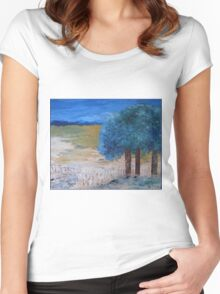 Blue trees Women's Fitted Scoop T-Shirt