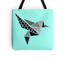 Geo Hummingbird in Mono  Tote Bag