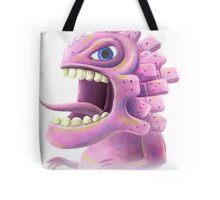 Funny monster lizard dragon rose Tote Bag