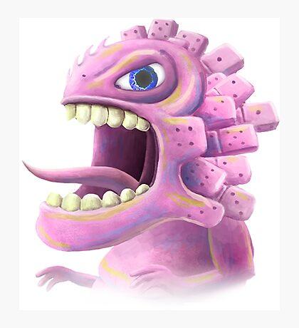 Funny monster lizard dragon rose Photographic Print
