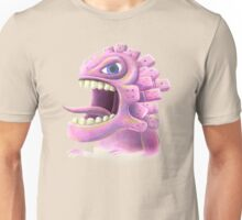 Funny monster lizard dragon rose Unisex T-Shirt