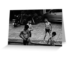 Boys, Vietnam. Greeting Card