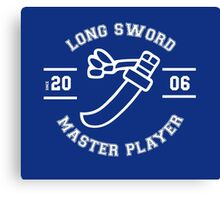 Long Sword - Master Player Canvas Print