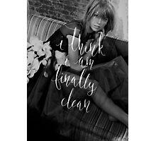 Clean Lyrics Taylor Swift Photographic Print