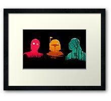 Cartoon Star Wars Characters Framed Print