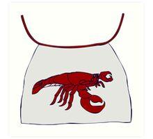 Lobster Bib Art Print