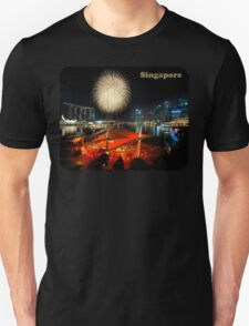 Fireworks By The Bay (T/Singapore/Chest) T-Shirt