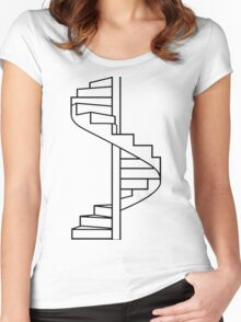 Where do you go? Women's Fitted Scoop T-Shirt