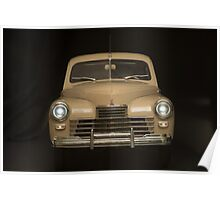 retro car on a black background Poster