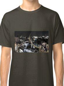 Goku flyin over Tokyo Classic T-Shirt
