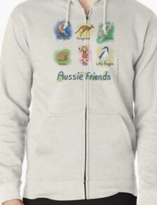 Me and My Aussie Friends - Girl Zipped Hoodie