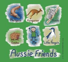 Me and My Aussie Friends - Boy Baby Tee