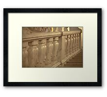 marble staircase up Framed Print