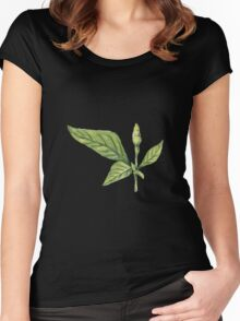 Chilly plant- green fruits Women's Fitted Scoop T-Shirt