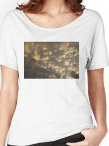 Phenomenal Sky - Incredible Mammatus Clouds At Sunset Women's Relaxed Fit T-Shirt