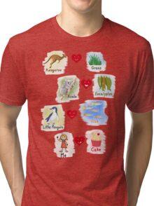 Aussie Friends love food - Girl Tri-blend T-Shirt
