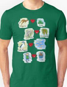 Aussie Friends love food - Boy Unisex T-Shirt