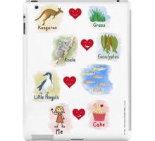 Aussie Friends love food - Girl iPad Case/Skin