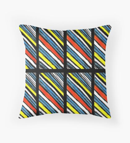 Colored Stripes Octet Throw Pillow