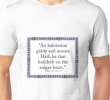 An Habitation Giddy And Unsure - Shakespeare Unisex T-Shirt