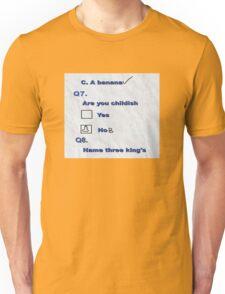 Test Humour Funny Tee Shirt Unisex T-Shirt