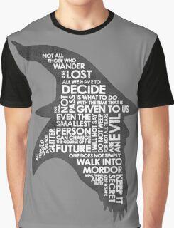 gandalf silhouette Black/White version Graphic T-Shirt