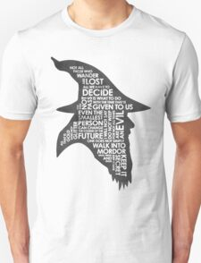gandalf silhouette Black/White version T-Shirt