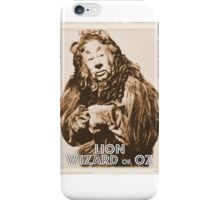 Wizard of Oz Lion iPhone Case/Skin