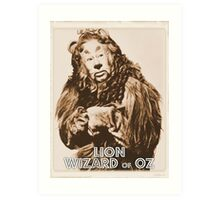 Wizard of Oz Lion Art Print