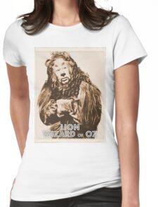 Wizard of Oz Lion Womens Fitted T-Shirt