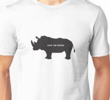 Save the Rhino Unisex T-Shirt