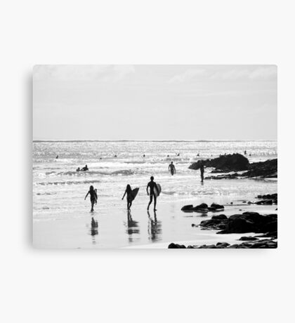 Little Surfers : First Point, Noosa Canvas Print