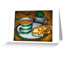 Still life with green touring bike Greeting Card
