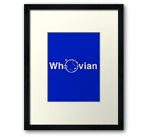Whovian - Doctor Who Framed Print