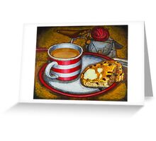 Still life with red touring bike Greeting Card
