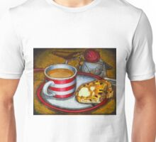 Still life with red touring bike Unisex T-Shirt