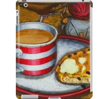 Still life with red touring bike iPad Case/Skin